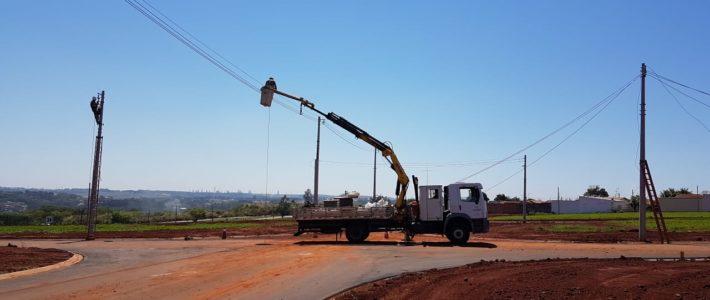 Rede elétrica e iluminação pública da Ala do Bosque